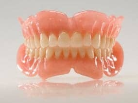 An image of dentures
